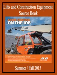 Lifts and construction Equipment Source Book