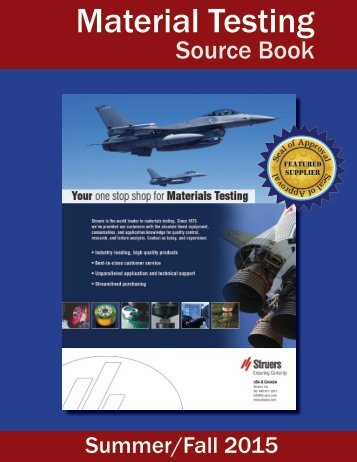 Material Testing Source Book