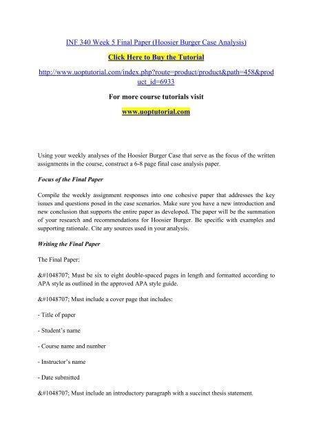 apa analysis paper