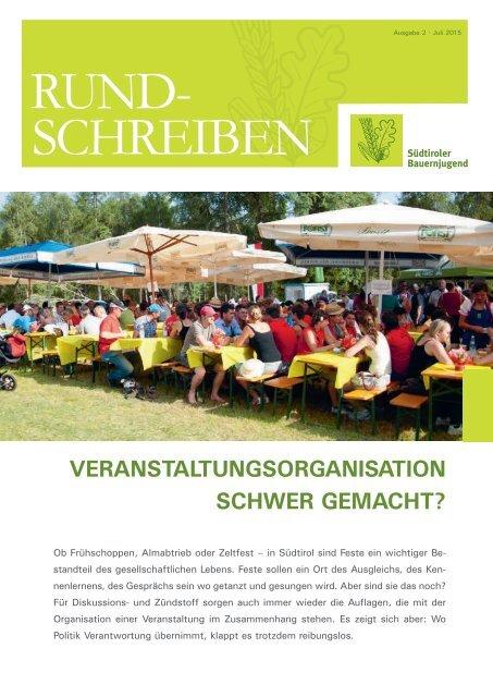 Rundschreiben Nr. 2 - 2015 der Südtiroler Bauernjugend