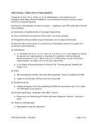 Protokoll från styrelsemöte - Föräldraföreningen vid Mälarhöjdens ...