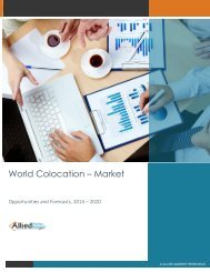 World Colocation – Market Opportunities and Forecasts, 2014 - 2020