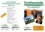2011 Fyraftensmøde.indd - Sønderjysk Landboforening