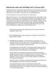 Referat från Lilla rådet F–3 den 29 - Föräldraföreningen vid ...