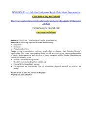 ISCOM 424 Week 1 Individual Assignment Supply Chain Visual Representation