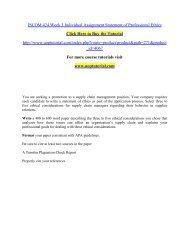 ISCOM 424 Week 3 Individual Assignment Statement of Professional Ethics