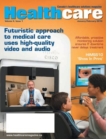 Futuristic approach to  medical care uses high-quality video and audio