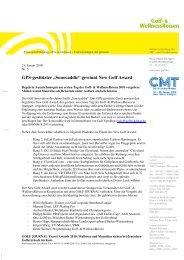 GolfWellness 2010 Awards HP 11.02.10