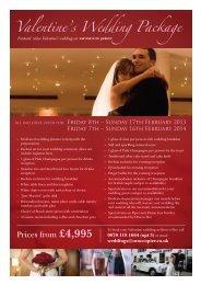Valentine's Wedding Package - Orocco Pier