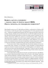 Kinga Zdrojewska, Kobieta aktywna zawodowo zadania ... - Aequalitas
