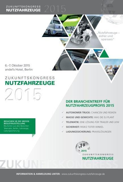 Zukunftskongress Nutzfahrzeuge vom 6.-7. Oktober 2015 in Berlin