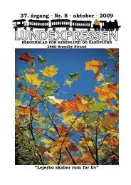 37. årgang · Nr. 8 · oktober · 2009 - lundens.net