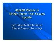 Asphalt Mixture & Binder Expert Task Groups Update - neaupg