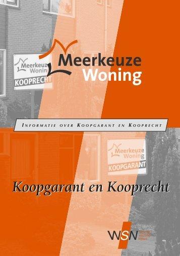 Koopgarant en Kooprecht - Woningstichting Nijkerk