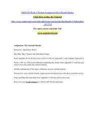 HSM 250 Week 1 Written Assignment My Cultural Identity