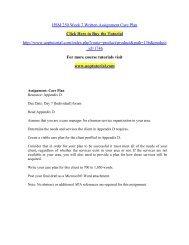 HSM 250 Week 7 Written Assignment Care Plan
