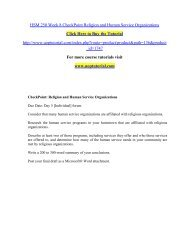 HSM 250 Week 8 CheckPoint Religion and Human Service Organizations