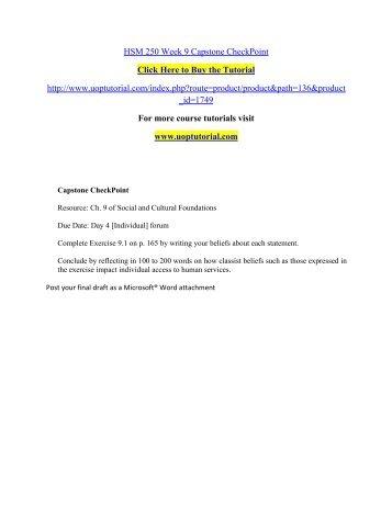 Essay Example: HSM 260 proactive tutors / snaptutorial.com
