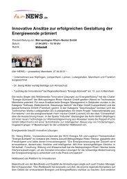Innovative Ansätze zur erfolgreichen Gestaltung der ... - fair-NEWS.de