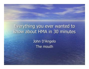 Everything you ever wanted to know about HMA in 30 ... - neaupg