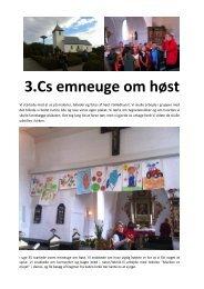 Se 3.C's artikel om emnet HØST - Sabro-Korsvejskolen