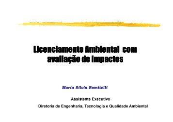 Licenciamento Ambiental com avaliação de impactos - ASEC