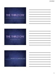 THE THIRD DAY THE THIRD DAY - Confident Christians