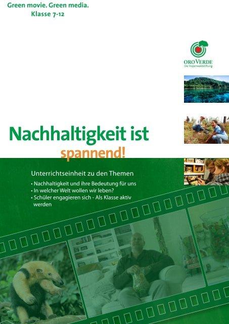 Unterrichtsmaterial zum Thema Nachhaltigkeit