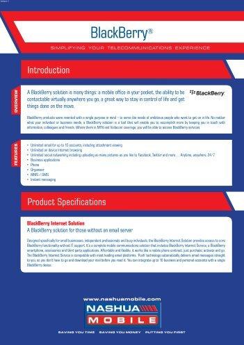Blackberry Consumer - Brochure - Nashua Mobile