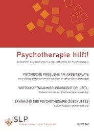 Herbst 2009 - Österreichischer Bundesverband für Psychotherapie