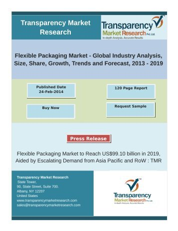 Flexible Packaging Market- Global Industry Analysis, Size, Share, Growth, Trends, Forecast 2013-2019
