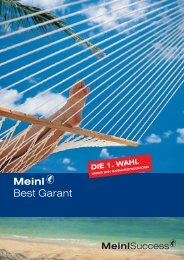 Info-Folder Meinl Best Garant - FONDS professionell