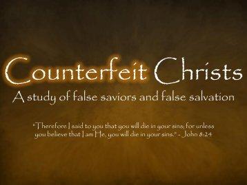 Counterfeit Christs - Confident Christians