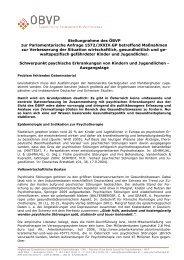 Stellungnahme - Österreichischer Bundesverband für Psychotherapie