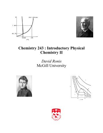 Chemistry 243 : Introductory Physical Chemistry II ... - McGill University