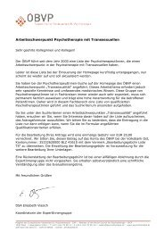 antragsformular - Österreichischer Bundesverband für Psychotherapie