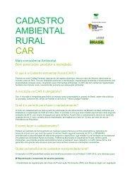 CADASTRO AMBIENTAL RURAL CAR - Sema