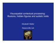 Visuospatial contextual processing: Illusions ... - Liz Walter Shelly