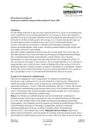 Bestyrelsens beretning ved - Sønderjysk Landboforening
