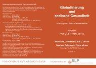 Globalisierung und seelische Gesundheit -  Österreichischer ...
