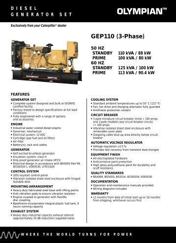 GEP110 (3-Phase) - E-TEC Power Management