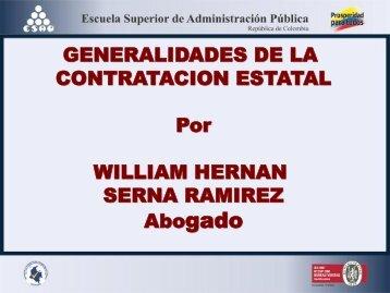Generalidades de la Contratación Estatal