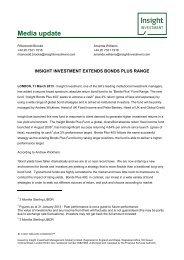 'Bonds Plus' Fund Range - Insight Investment