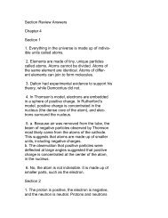 Section Review Answers Chapter 4 Section 1 1. Everything in the ...