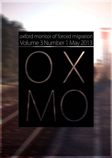 Oxford Monitor of Forced Migration, Volume 3, Number 1