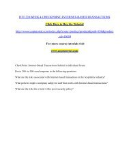 HTT 220 WEEK 4 CHECKPOINT: INTERNET-BASED TRANSACTIONS