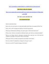 HTT 220 WEEK 6 ASSIGNMENT: COMPETITIVE ADVANTAGE