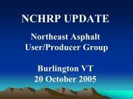 NCHRP Update - NEAUPG