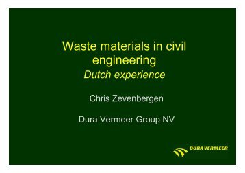 Waste materials in civil engineering - iscowa