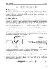 Michelson interferometer - Ultracold Atomic Physics